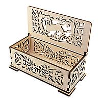 Деревянная шкатулка для украшений и подарков