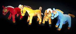Мягкая музыкальная Лошадь 22 см милая плюшевая игрушка Лошадка стоячая