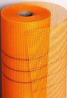 Сетка фасадная стекловолоконная 160г/м.кв 5х5мм. (оранжевая)