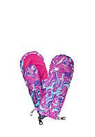Варежки рукавицы зимние Art Pink на змейке, непромокаемые