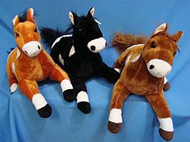 Лошадь 40 см лежачая мягкая детская плюшевая игрушка лошадка