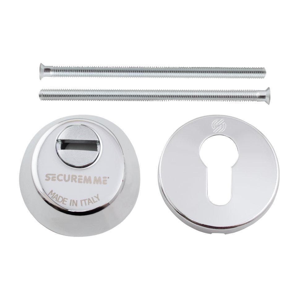 Securemme 4255KCL14M2 Броненакладка под цилиндр хром