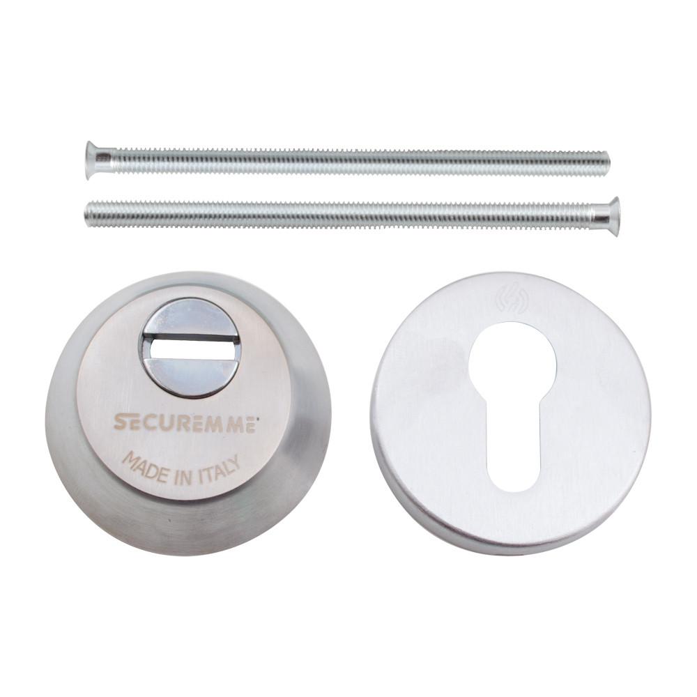 Securemme 4255KCS14M2 Броненакладка под цилиндр мат. хром