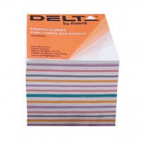 Бумага для заметок Delta Mix D8015, 90х90х80 мм, непроклеенная