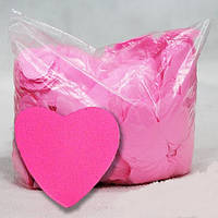 Конфетти сердечки, розовые, 100 грамм