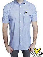 Мужская рубашка Lyle & Scott р-р L Оригинал (сток, б/у) original с коротким рукавом