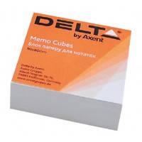 Папір для нотаток Delta D8001, 80х80х20 мм, непроклеенная, білий