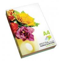 Бумага цветная для принтера Микс Насыщенная А4 80г/м 250л. SPECTRA color Радуга 5*50л.