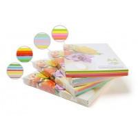 Бумага цветная для принтера Микс А4 160г/м 100л. SPECTRA color Радуга 10*10л.