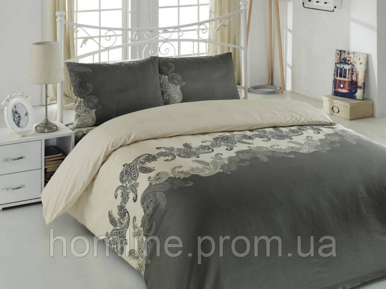 Постельное белье Eponj Home ранфорс Mixscarlet бежевое евро размер