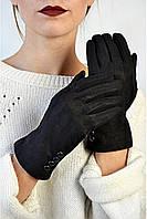 Женские перчатки замшевые Ламингтон