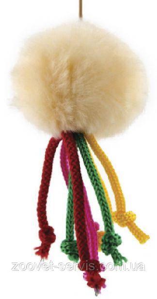 Игрушка для кошек Мячик меховой на резинке ТМ Природа