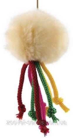 Игрушка для кошек Мячик меховой на резинке ТМ Природа, фото 2