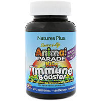 Nature's Plus, Жевательные витамины для детей для защиты иммунитета. Сделано в США