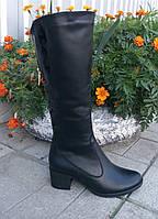 Женские кожаные сапоги на пышные ножки. ОПТ.
