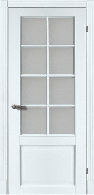 Межкомнатные двери Тессоро К-1 ПО Белая эмаль