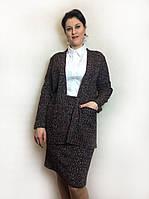 Кардиган женский букле без застежки с карманами., фото 1