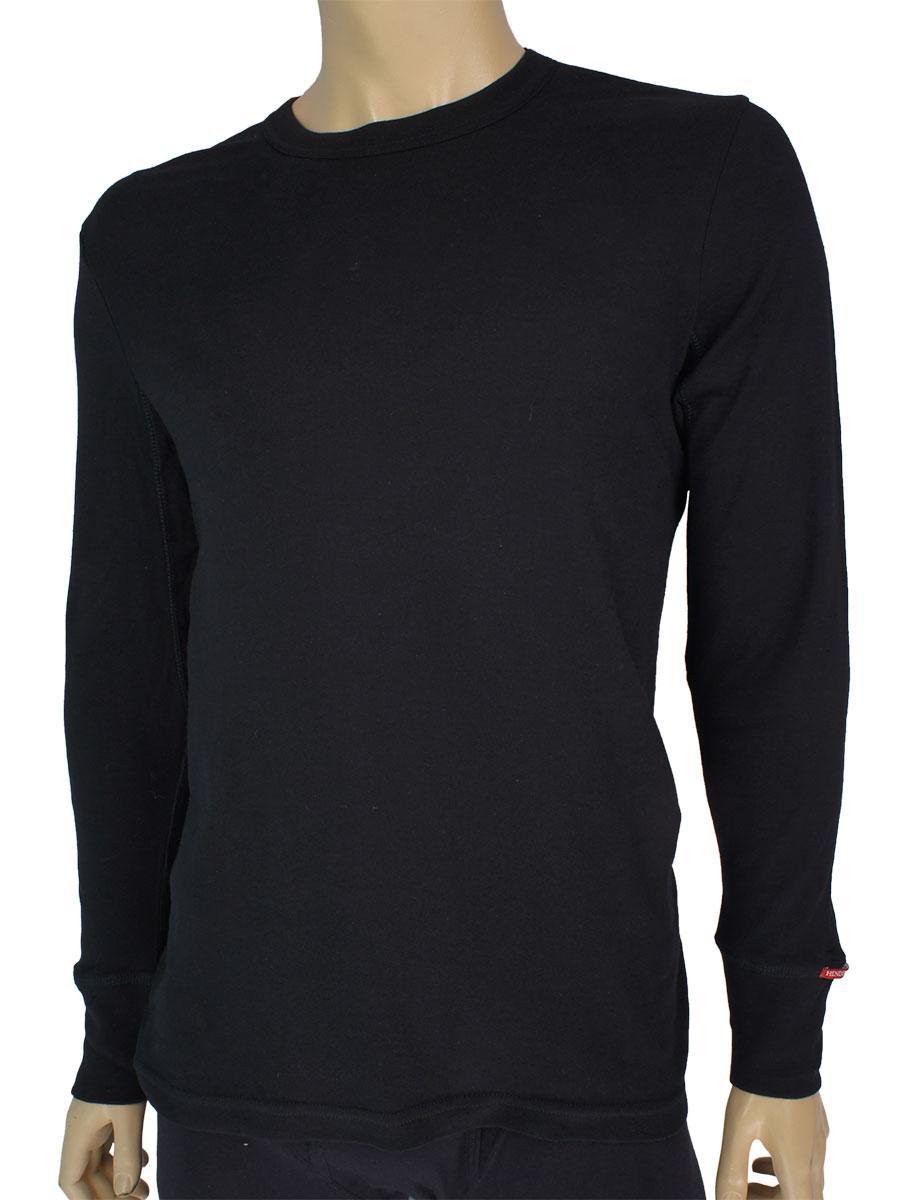 Черная сорочка нательная кофта Henderson 2149-J41