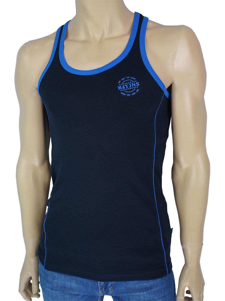 Спортивна чоловіча майка MSY 23180 темно-синього кольору