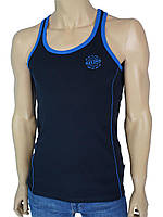 Спортивная мужская майка MSY 23180 темно-синего цвета