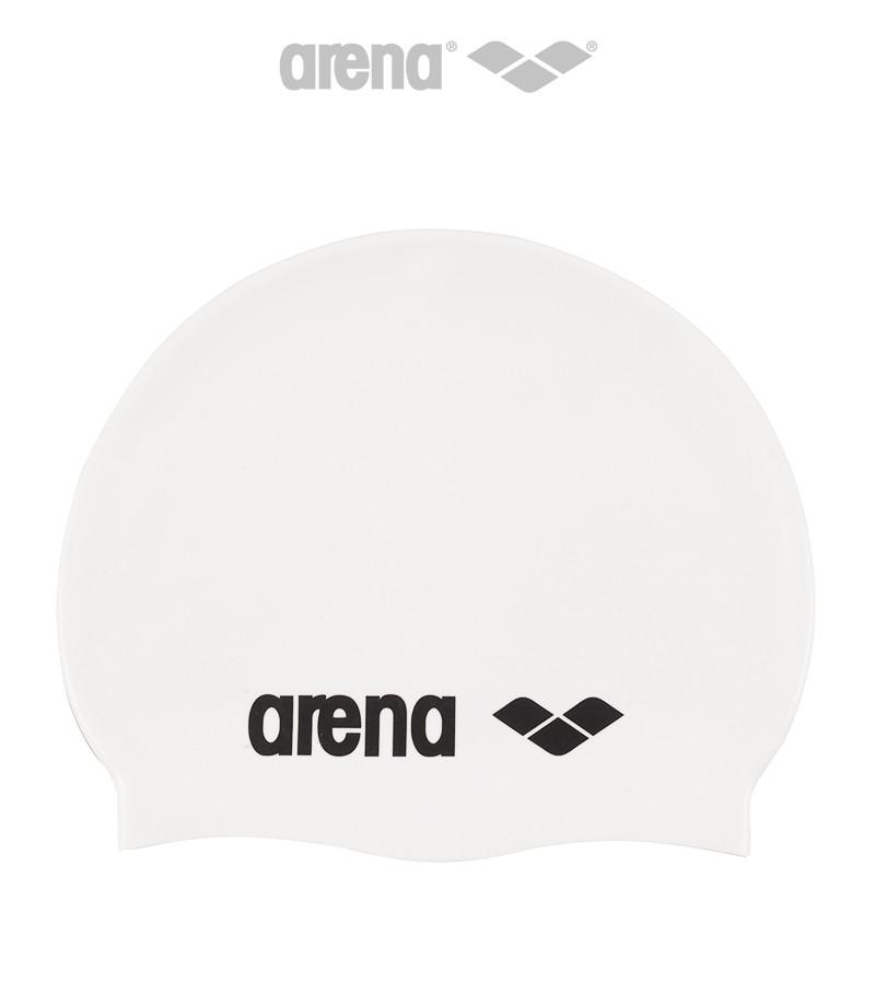 Шапочка для плавания Arena Classic Silicone (White)