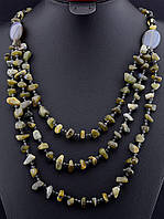 030174 Бусы из агата, бусы из натурального камня агат 76 см. многорядные