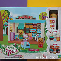 Дом с мебелью игровой фигуркой для девочки в коробке 43*35*19 см