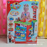 Набор игрушечный Супермаркет с кассой, тележка, товары