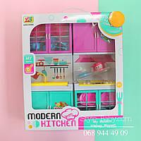 Мебель Кухня 31-27-6см, звук, свет, посуда, на бат-ке, в кор-ке,28-33-8см