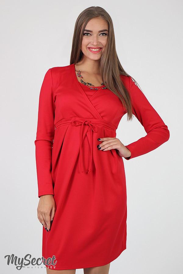 Платье для беременных и кормящих Winona ЮЛА МАМА (красный, размер S)