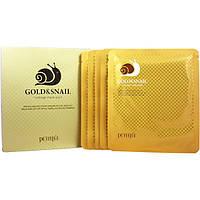 PETITFEE Snail & Gold Hydrogel Mask - Гидрогелевая маска для лица