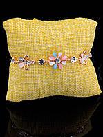Браслет женский бижутерия под золото, цветок FJ украшение №031149