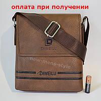 b72e0300b72a Мужская кожаная фирменная сумка барсетка DIWEILU Polo классика купить