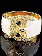 Браслет с совой белый, металл под золото, женский 'FJ' украшение 031694
