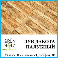 Ламинат износостойкий толщиной 8 мм Grun Holz Vintage 33 класс Дуб Дакота палубный