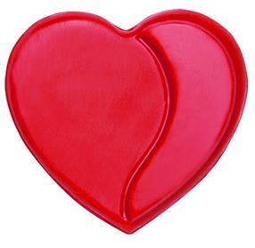 Шоколадне серце червоне - кондитерський декор Barbara Luijckx