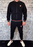 Спортивный костюм GUCCI D2443 черный теплый