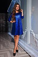 Платье блестящее с пайетками KV-555