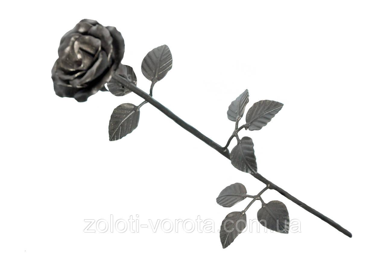 Кованая роза цветок со стеблем