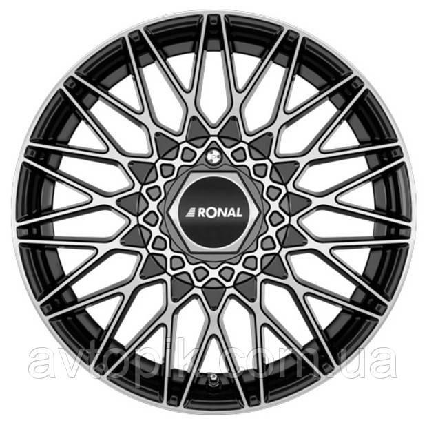 Литі диски Ronal LSX R16 W7 PCD5x120 ET35 DIA82 (jet black front diamond cut)