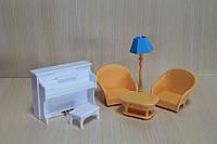 Набор мебели  в коробке для домика Sylvanian Familiesс флоксовыми животными