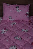 Подушка одеяло шерстяное - хлопок