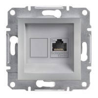Компьютерная розетка  RJ45, кат.5е,  ASFORA алюминий Schneider Electric