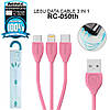 USB кабель Remax Lesu 3 in 1 RC-050th Lightning & Micro USB & Type-C 1m, фото 6