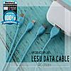 USB кабель Remax Lesu 3 in 1 RC-050th Lightning & Micro USB & Type-C 1m, фото 7