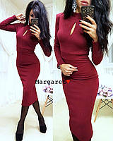 "Женское платье капелька (бордо) ""Margaret""  S и M"