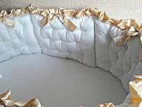 """Набор постельного белья дизайнерский: """"Королевская мягкость"""" с золотом, 3-в-1"""