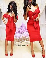 """Женское платье с карманами (красный) """"Margaret""""  42-44 единый"""