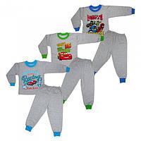 Пижама с накатом мальчик, размеры от 4 до 7 лет