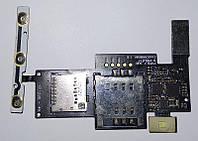 Роз'єм для Sim-карти і карти пам'яті для LG P970 Optimus, з кнопками регулювання гучності, на шлейфі